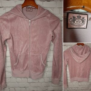 Juicy Couture velour hoodie size S